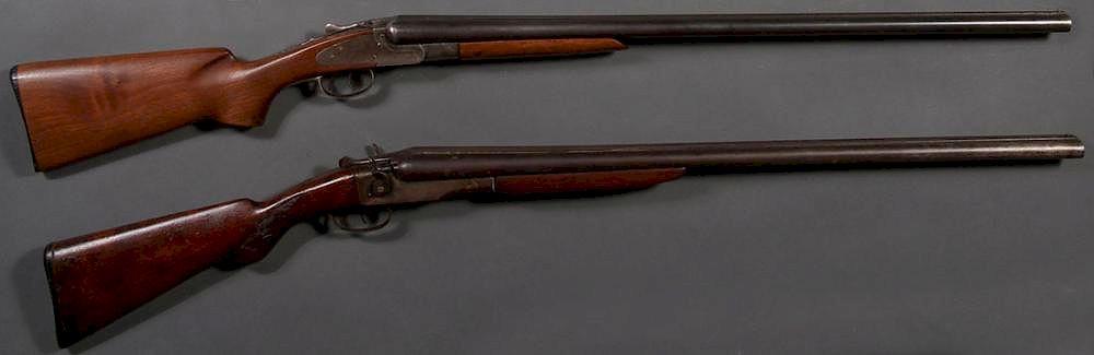 A PAIR OF 12 GAUGE DOUBLE BARREL SHOTGUNS by Jackson's