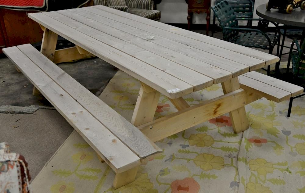 Amish Cedar Picnic Table Ht In Top X By Nadeaus - 96 picnic table