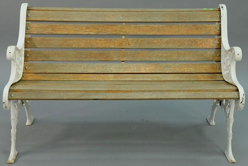 Cool Park Style Bench Having Wood Slats And Iron Ends Height 30 Andrewgaddart Wooden Chair Designs For Living Room Andrewgaddartcom