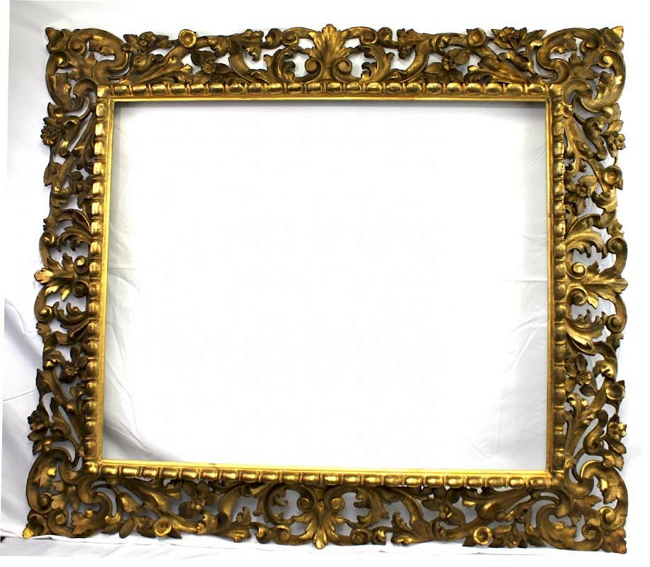 A Florentine (Italian) 18th Century Carved And Gilded Frame by ...