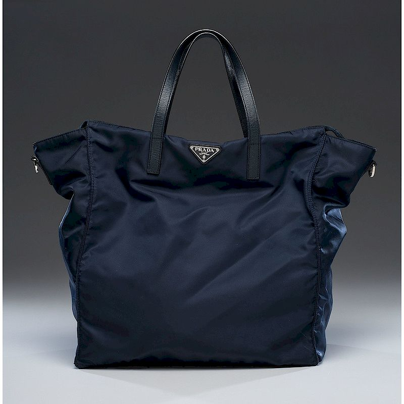 d78d38ae3995 ... cheap prada navy nylon zip tote bag with strap by cowans auctions inc  bidsquare c71a2 5d7bc
