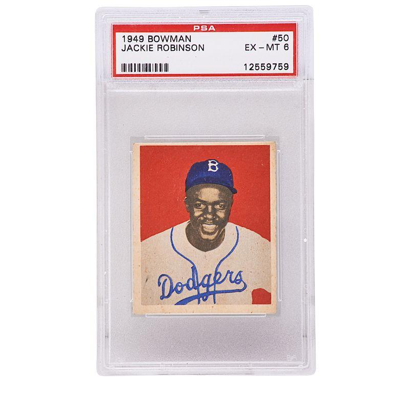 1949 Bowman Jackie Robinson Baseball Card By Rago 1072476