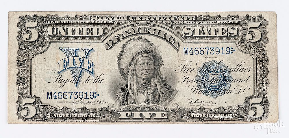 Us Series Of 1899 Five Dollar Silver Certificate By Pook Pook