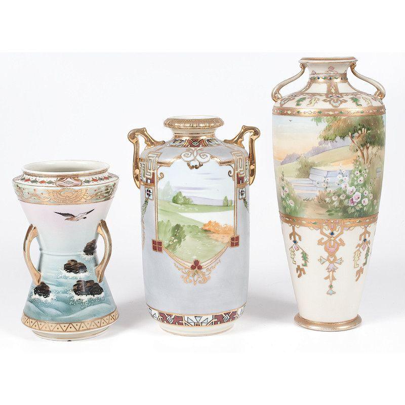 Nippon Porcelain Vases By Cowans Auctions Inc Bidsquare