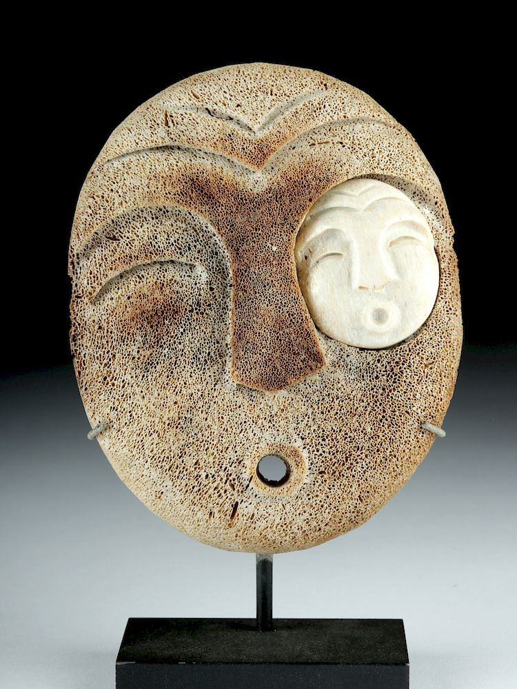 Early 20th C Pacific Northwest Inuit Bone Spirit Mask By Artemis Gallery 1100293 Bidsquare