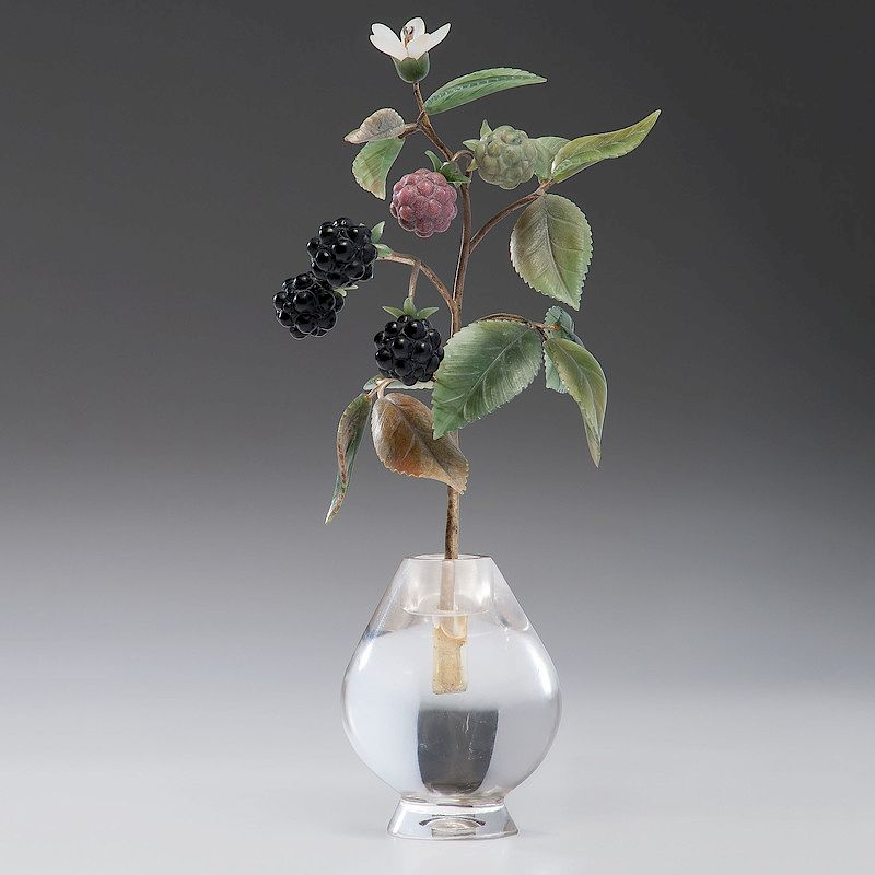 Faberge Style Rock Crystal Vase Raspberries By Cowans Auctions Inc