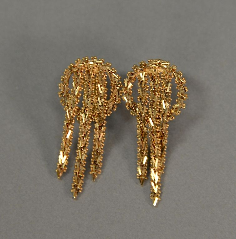 Pair Of 14 Karat Gold Earrings 11 Grams By Nadeau 39 S Auction