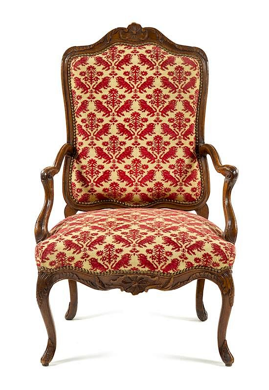 2 Oor Fauteuils.A Regence Walnut Or Fruitwood Fauteuil Height 44 1 2 Inches