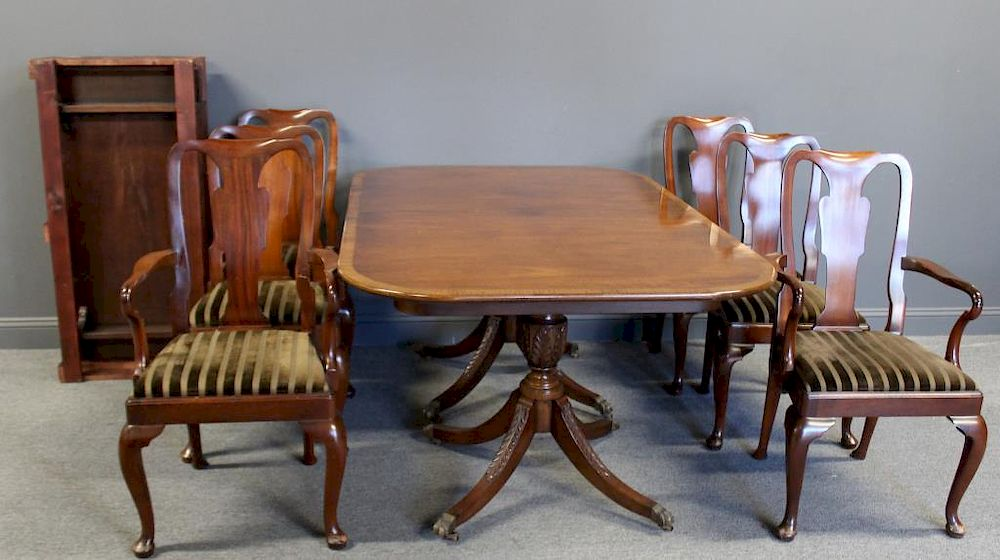 Beacon Hill Signed Mahogany Dining Table Chairs By Clarke