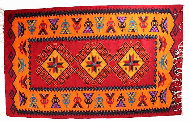Zapotec Indian Native American Rug By
