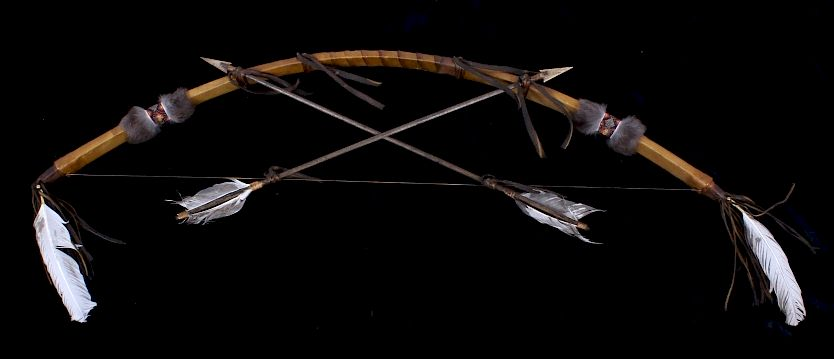 Plains Indian Bow and Arrow Leather Wall Decor by North American ...