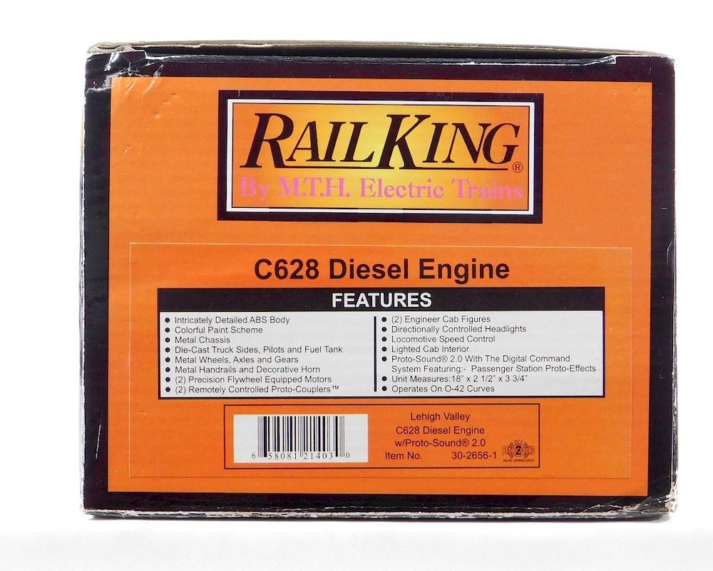 Mth Rail King Lehigh Valley C628 Diesel Engine By Bruneau Co