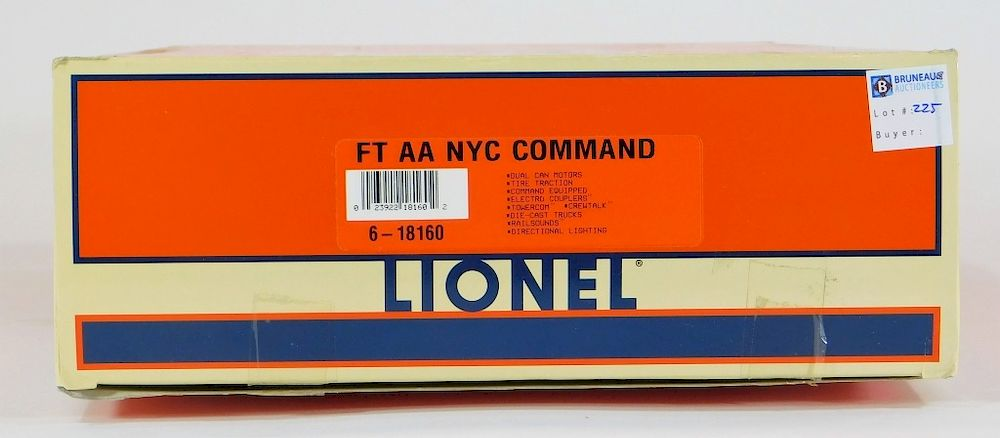 Lionel FT AA NYC Command O Electric Train Model by Bruneau