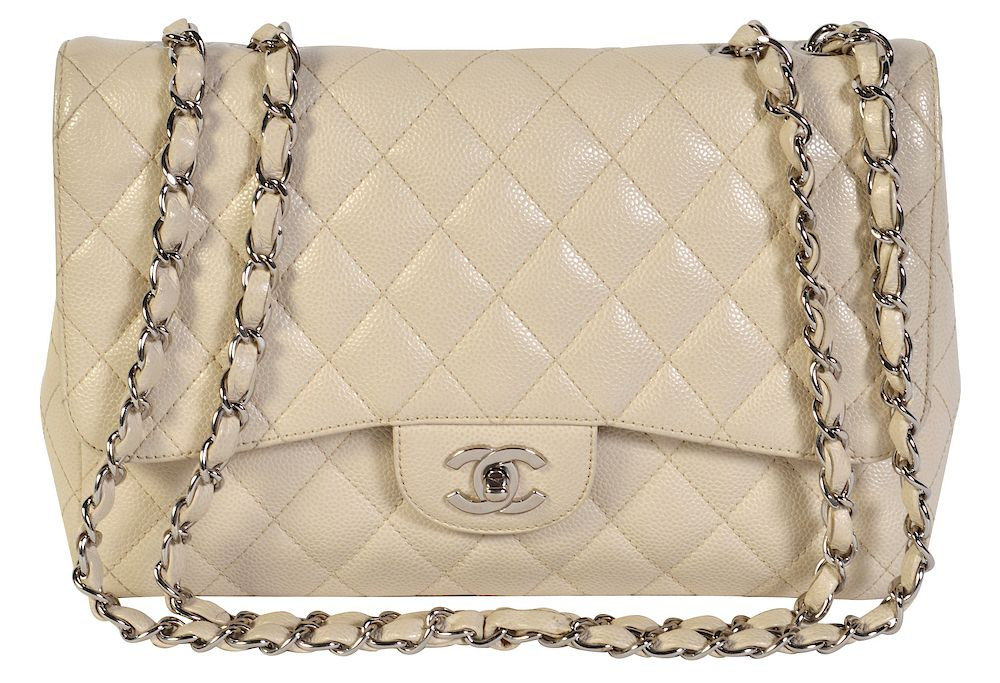 a1611faf374039 CHANEL Jumbo Claire Shoulder Bag w/ Caviar Leather by Abington Auction  Gallery, Inc. - 1146775   Bidsquare