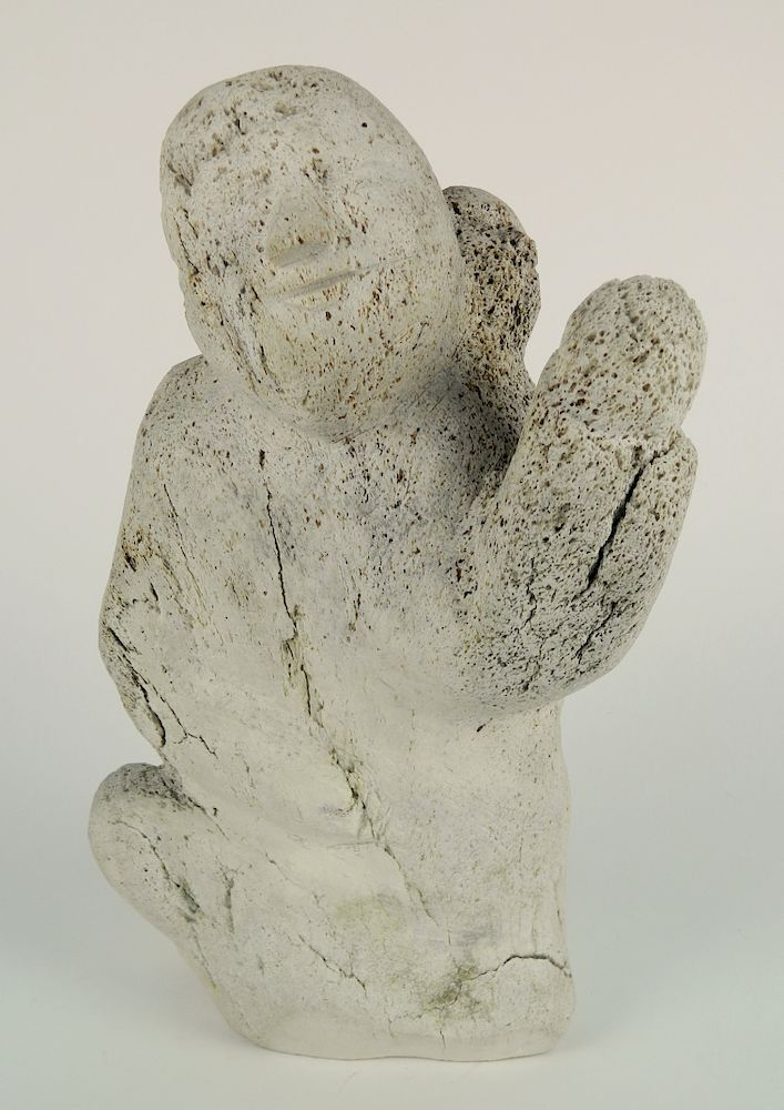 Inuit Whale Bone Carving By Rachel Davis Fine Arts 1157571 Bidsquare