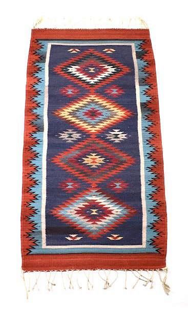 Zapotec Native American Indian Hand Woven Rug By North Auction Company Bidsquare
