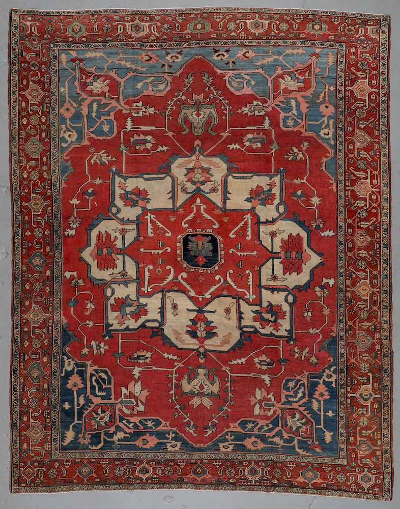 Fine Antique Serapi Rug 9 4 X 11 9 By Material Culture