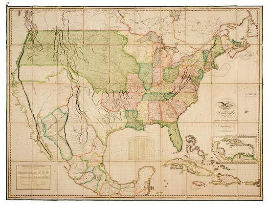 MELISH, John (1771-1822). Map of the United States...Entered...the ...