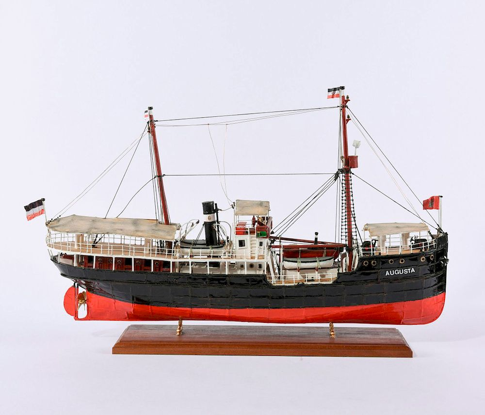 Model packet ship 'Augusta' by Quittenbaum Kunstauktionen