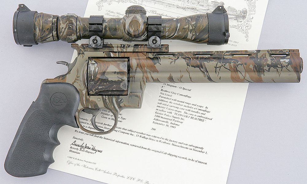 Colt Real Tree Anaconda Double Action Revolver by Amoskeag