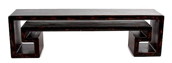 Tremendous A Chinese Black Lacquer Angular Scroll Table Height 18 X Pdpeps Interior Chair Design Pdpepsorg