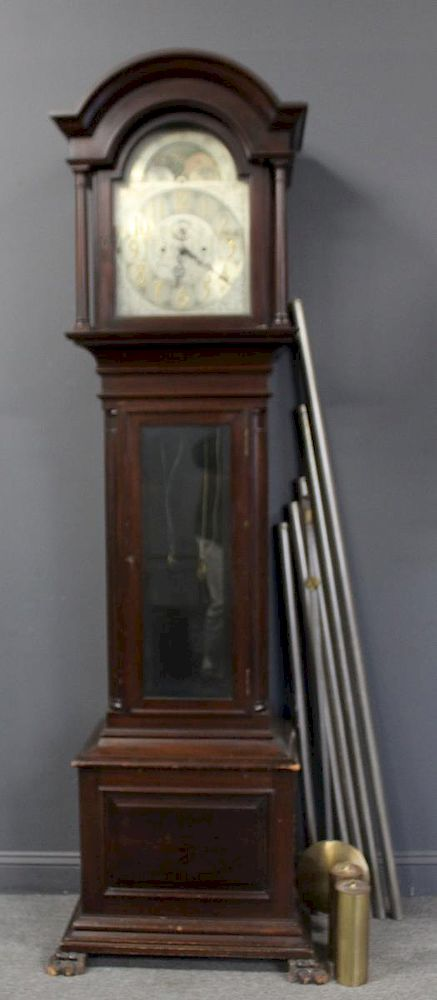 Bailey Banks Biddle Mahogany Tallcase Clock By Clarke Auction 1238640 Bidsquare