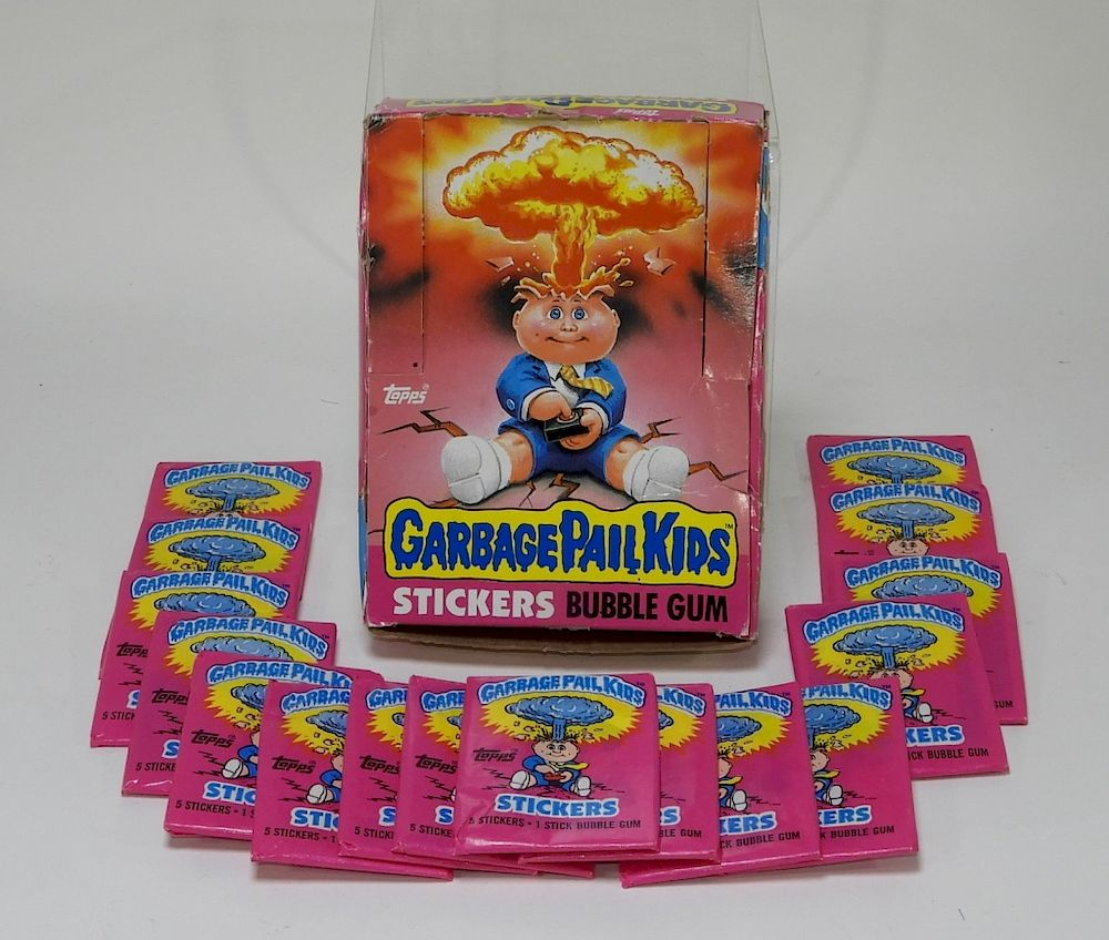 16 1985 Garbage Pail Kids Series 1 Wax Packs Box Sold At Auction On 1st December Bidsquare