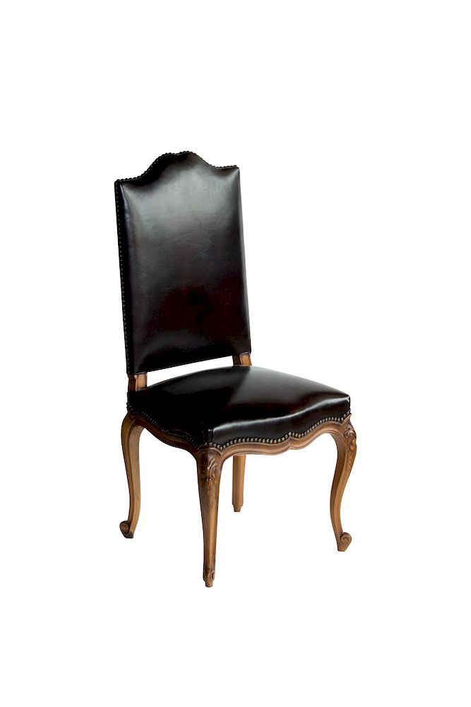 Prime Set Of Six French Antique Leather Dining Room Chairs By Gmtry Best Dining Table And Chair Ideas Images Gmtryco