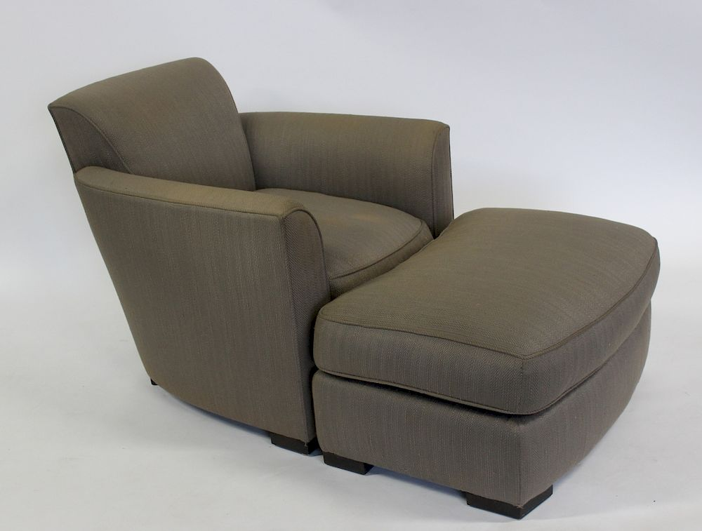 Strange Donghia Upholstered Lounge Chair And Ottoman By Clarke Cjindustries Chair Design For Home Cjindustriesco
