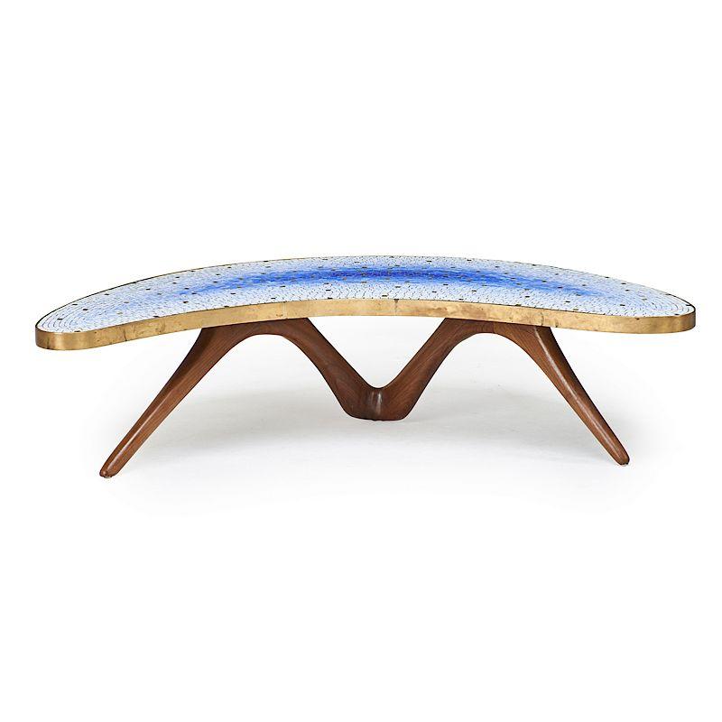 Kagan Coffee Table.Vladimir Kagan Crescent Coffee Table By Rago 1262578 Bidsquare