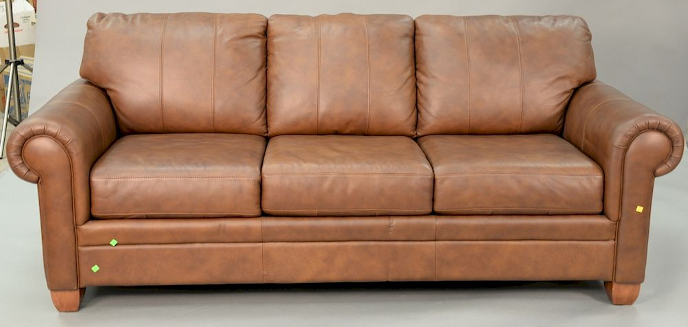 Pleasing Ethan Allen Brown Leather Sleeper Sofa Lg 86 In By Pabps2019 Chair Design Images Pabps2019Com