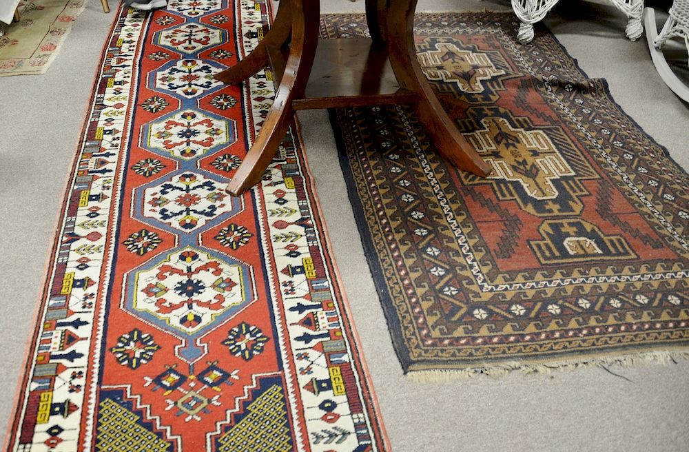 Two Oriental Rugs Including A Runner 2 4 X 10 7 And A Throw Rug 3