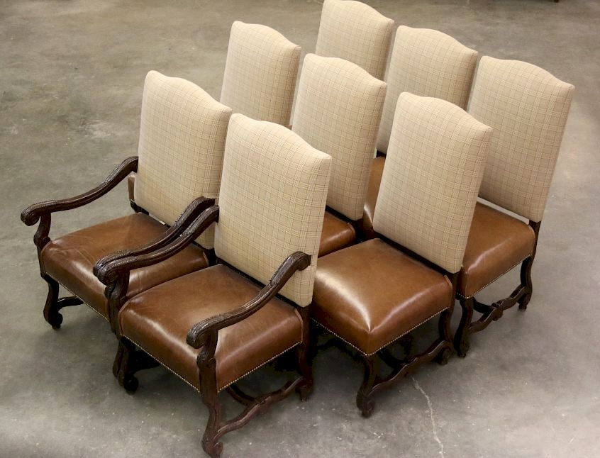 Remarkable Ralph Lauren Leather Dining Chair Set 8 By North American Creativecarmelina Interior Chair Design Creativecarmelinacom