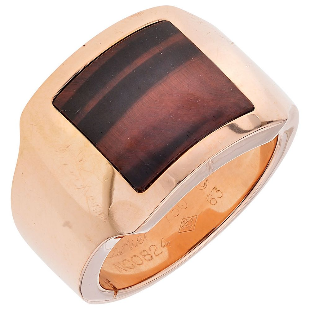 d95194ae35235 CARTIER SANTOS DUMONT quartz 18K rose gold ring. by Morton Subastas ...