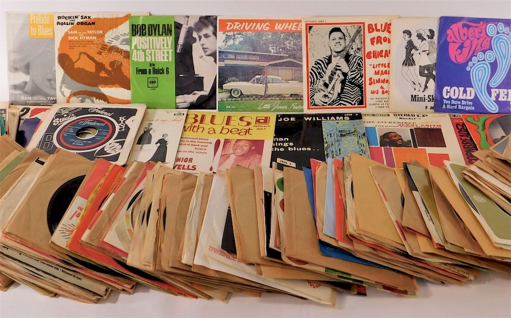 OVER 120 Vintage 45rpm Jazz Blue's Music Records by Bruneau