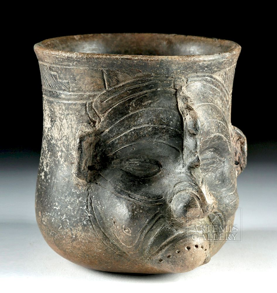Maya Pottery Vessel With Old Of