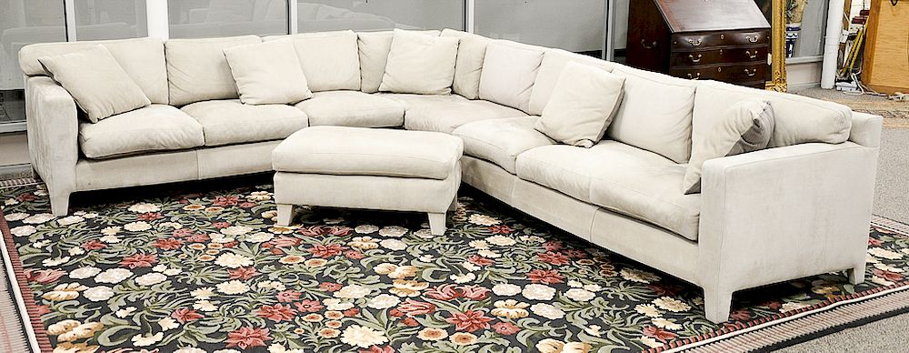 Fabulous Large Custom Nubuck Leather Sectional Sofa With Matching Gmtry Best Dining Table And Chair Ideas Images Gmtryco