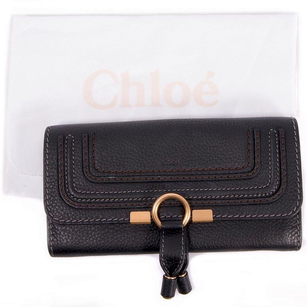 7343f14a Chloe Marcie Continental Long Flap Leather Wallet by Turner Auctions ...