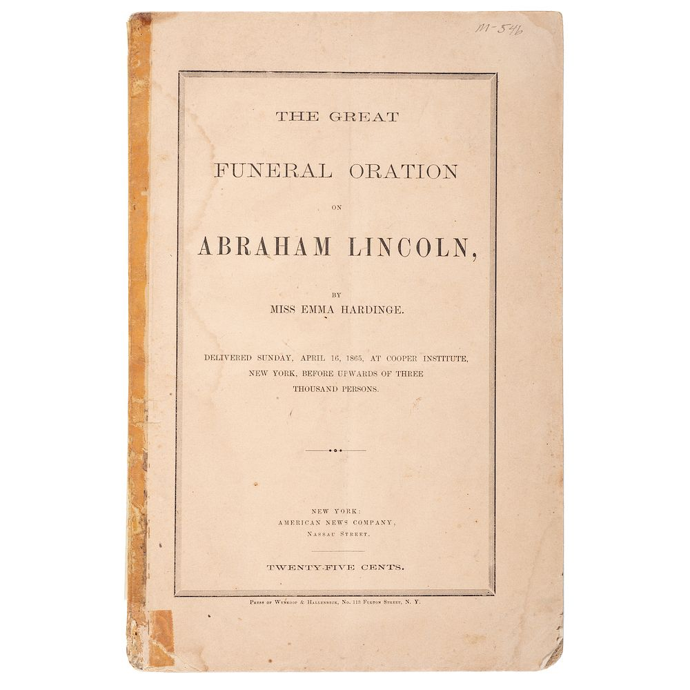 Lincoln Assassination, Three Funeral Sermons Preached During
