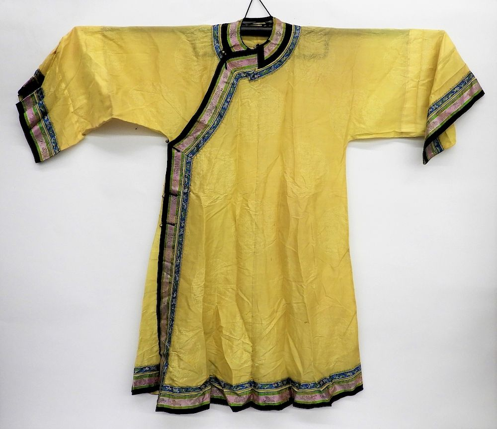 5c896d04b6396 Chinese Silk Imperial Yellow Gauze Summer Robe by Bruneau & Co ...