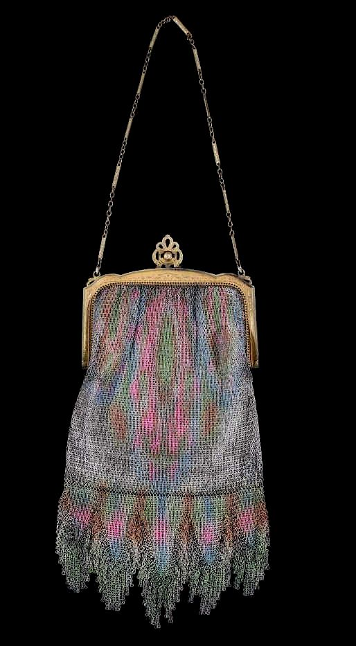1920 mesh whiting davis bag A Tale