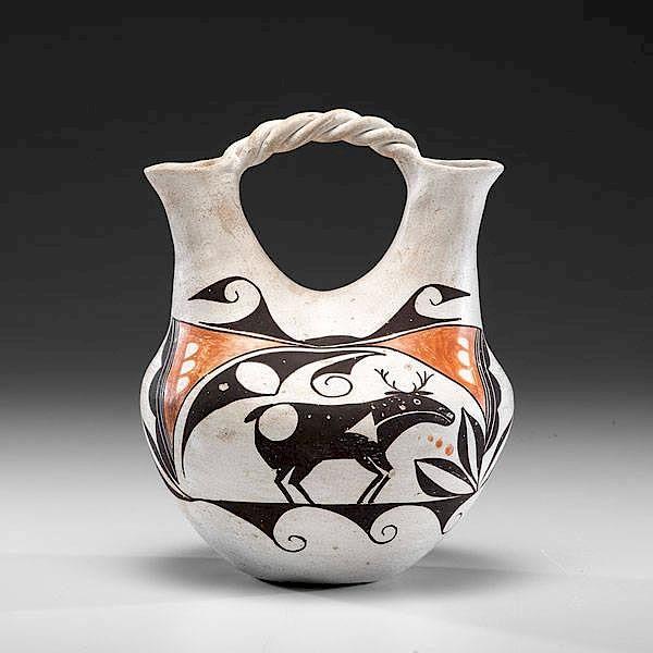 Juana Leno Acoma 1917 2003 Wedding Vase Deaccessioned From A