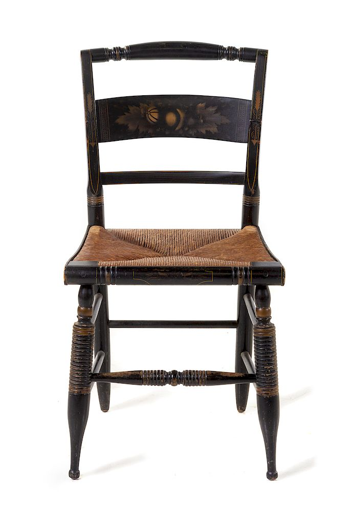 Fine A Black Hitchcock Side Chair By Hindman 1427715 Bidsquare Ocoug Best Dining Table And Chair Ideas Images Ocougorg