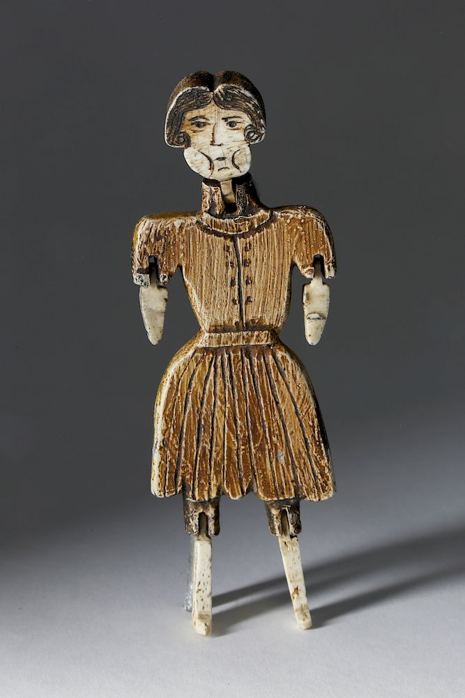 Carved Wood And Bone Articulated Folk Art Doll By Rafael Osona Auctions 1437343 Bidsquare