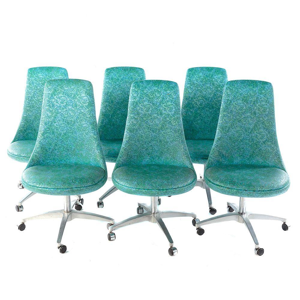 Incredible Six Chromcraft Mid Century Modern Dining Chairs By Alex Inzonedesignstudio Interior Chair Design Inzonedesignstudiocom