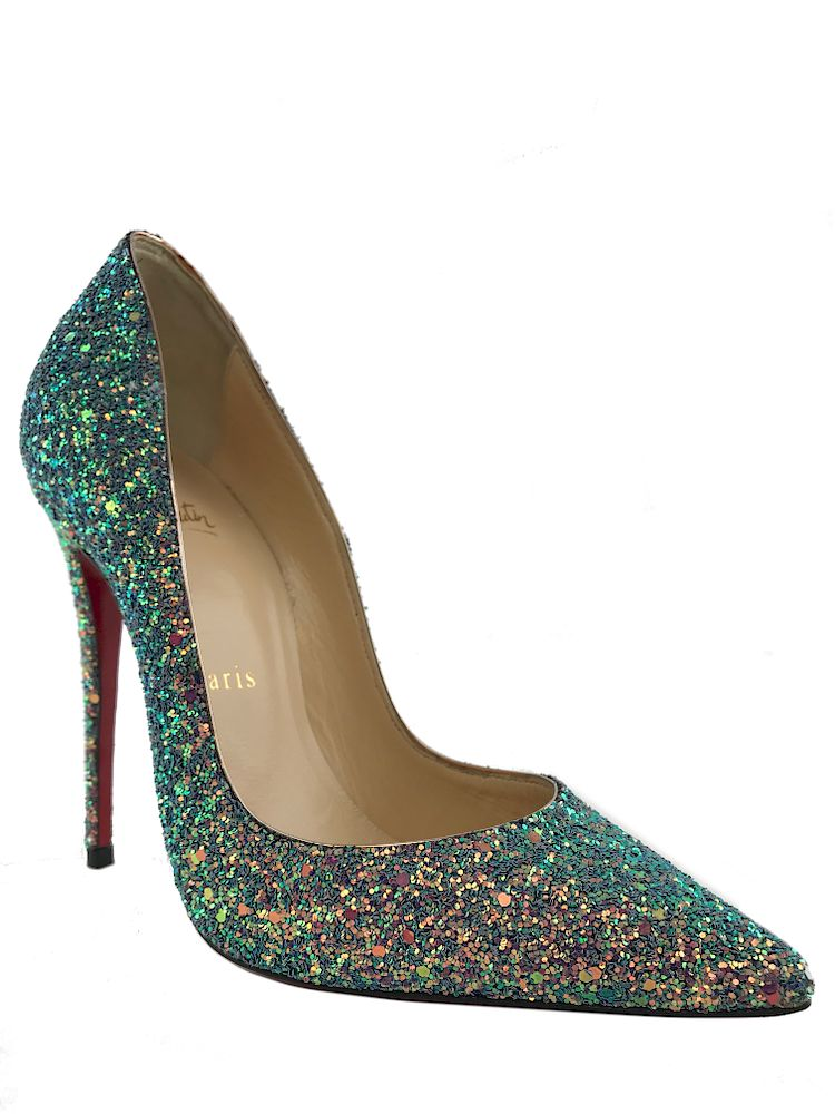 designer fashion 8d7e0 9e4b1 Christian Louboutin So Kate 120 Glitter Dragonfly Pumps