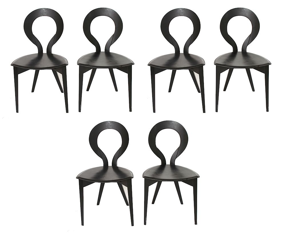 Enjoyable Modern Open Back Dining Chairs Group Of 6 By Showplace Dailytribune Chair Design For Home Dailytribuneorg