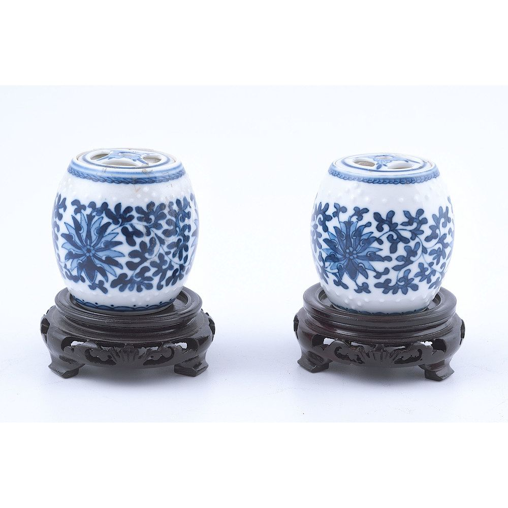 Amazing Chinese Blue And White Porcelain Miniature Jars By Cowans Theyellowbook Wood Chair Design Ideas Theyellowbookinfo