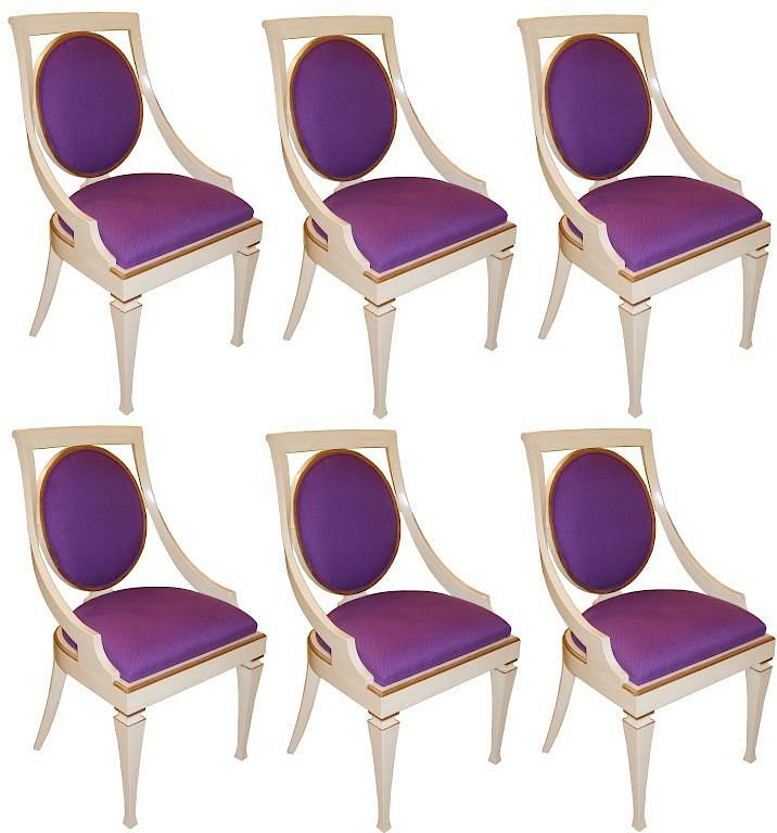 Set Of 6 John Widdicomb Dining Chairs By Craig Van Den Brulle 1476570 Bidsquare