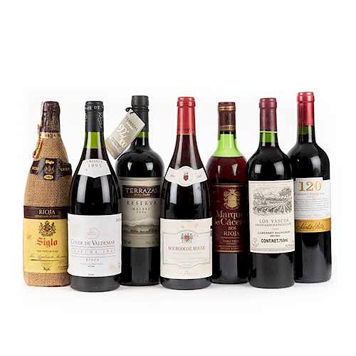 Lote De Vino Tinto 120 Santa Rita Terrazas De Los Andes Conde De Valdemar Y Los Vascos Total De Piezas 7